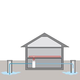 Тепловой насос с источником тепла из подземных вод