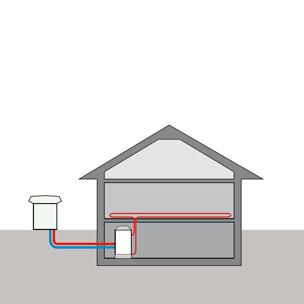 Тепловой насос с воздушным источником тепла